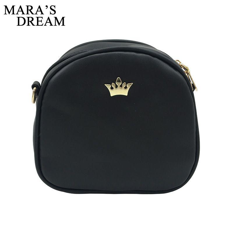 fa7a424e54 Mara s Dream 2018 Fashion Women Handbag Messenger Bags PU Leather Shoulder  Bag Lady Crossbody Mini Bag Female Crown Evening Bags-in Crossbody Bags  from ...