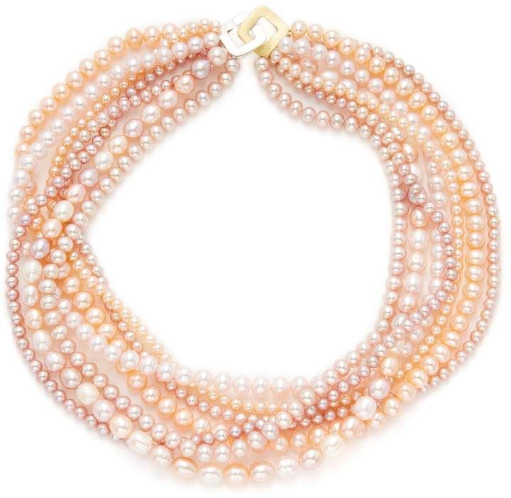 store freshwater pearls natural peach of doubled ropes sku