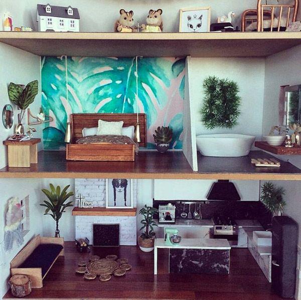 Tiny Bungalow | Maison de poupée moderne, Meubles de ...