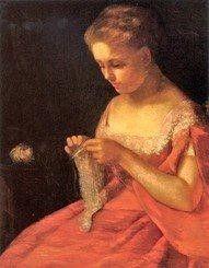 American painter Mary Cassat, 1875 (1844-1926)