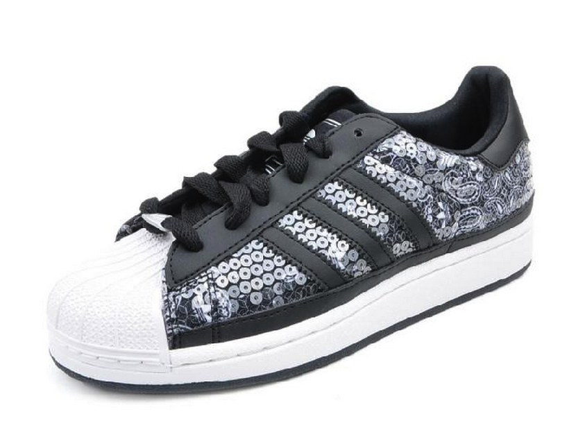 Adidas Originals Superstar 2 Black Sequins White Casual G95698 $169.00