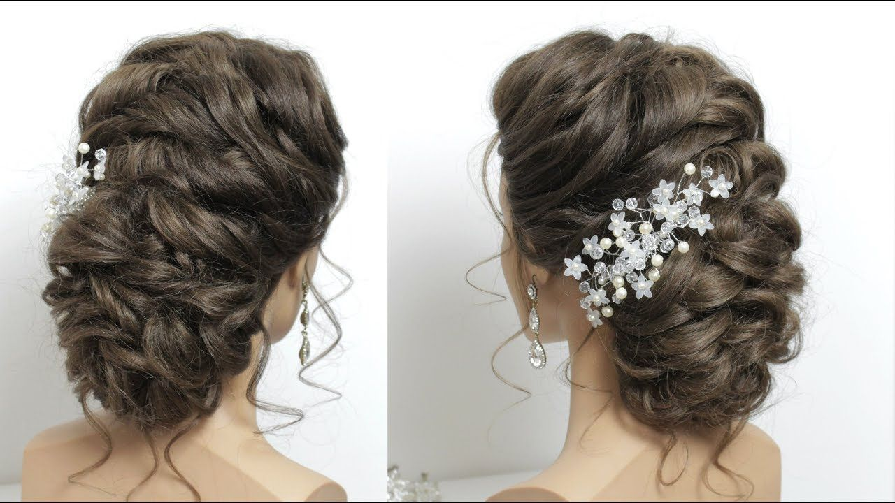 Bridal Hairstyle For Long Hair Tutorial. Perfect Wedding Prom Updo ...