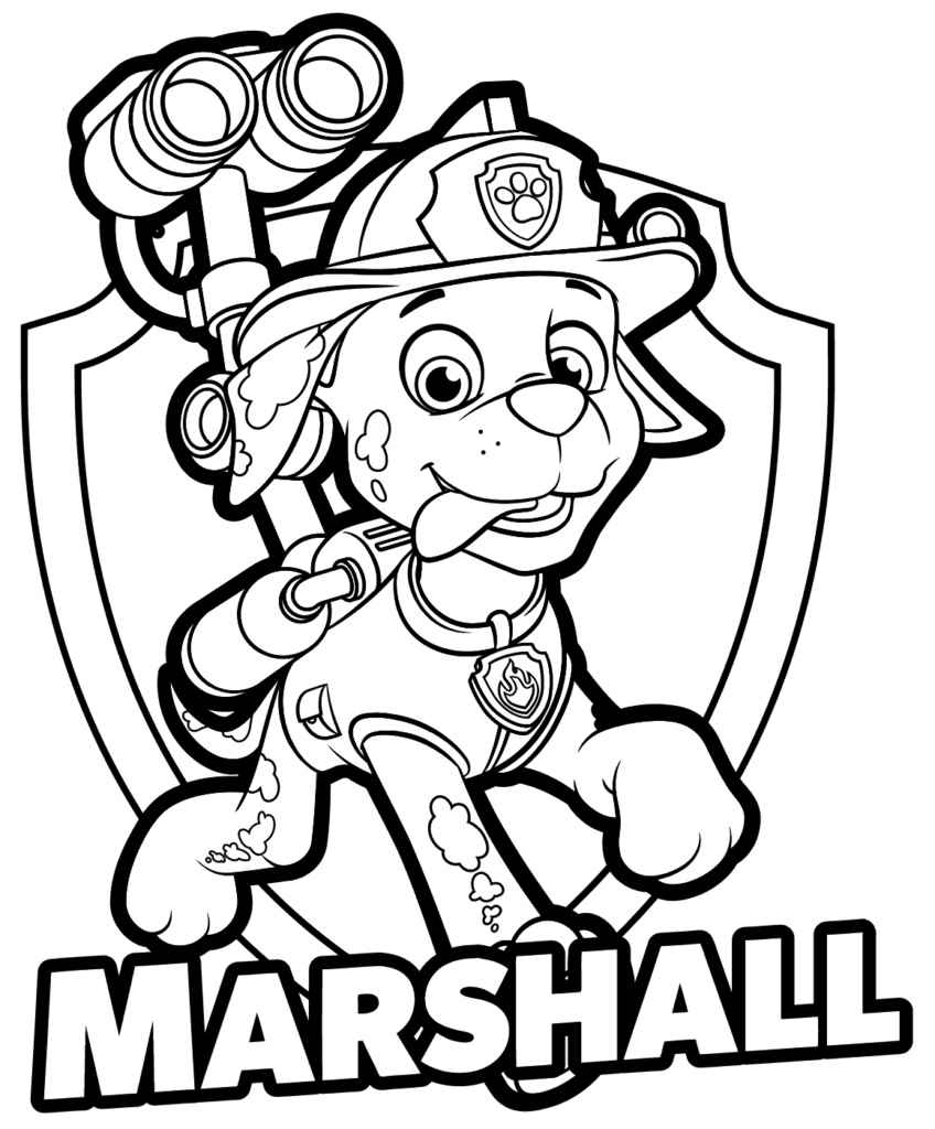 Drawing Patrol Coloring Pages Marshall Paw Patrol