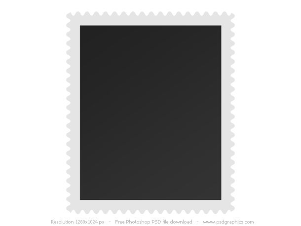 Blank Postage Stamp Template  Adobe  Photoshop Resources