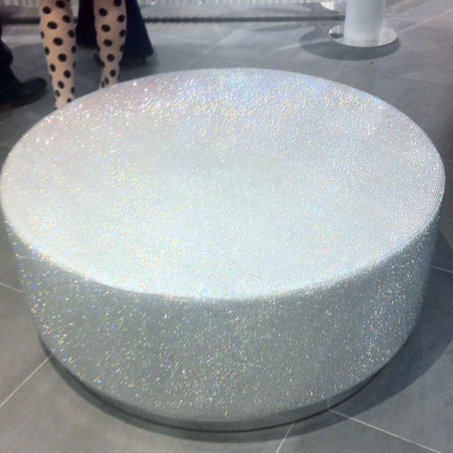 Swarovski Covered Ottoman What Every Gay Boy Wants