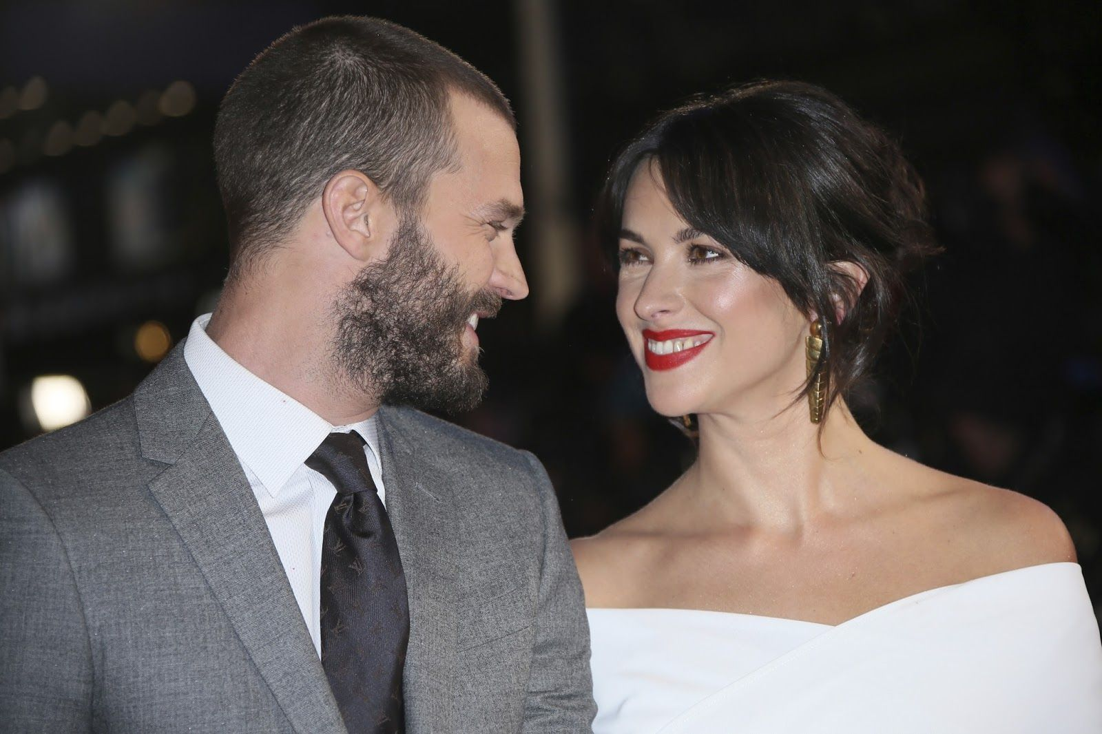 Jamie & Amelia at the Fifty Shades Darker London premiere... ::dreamy sigh::