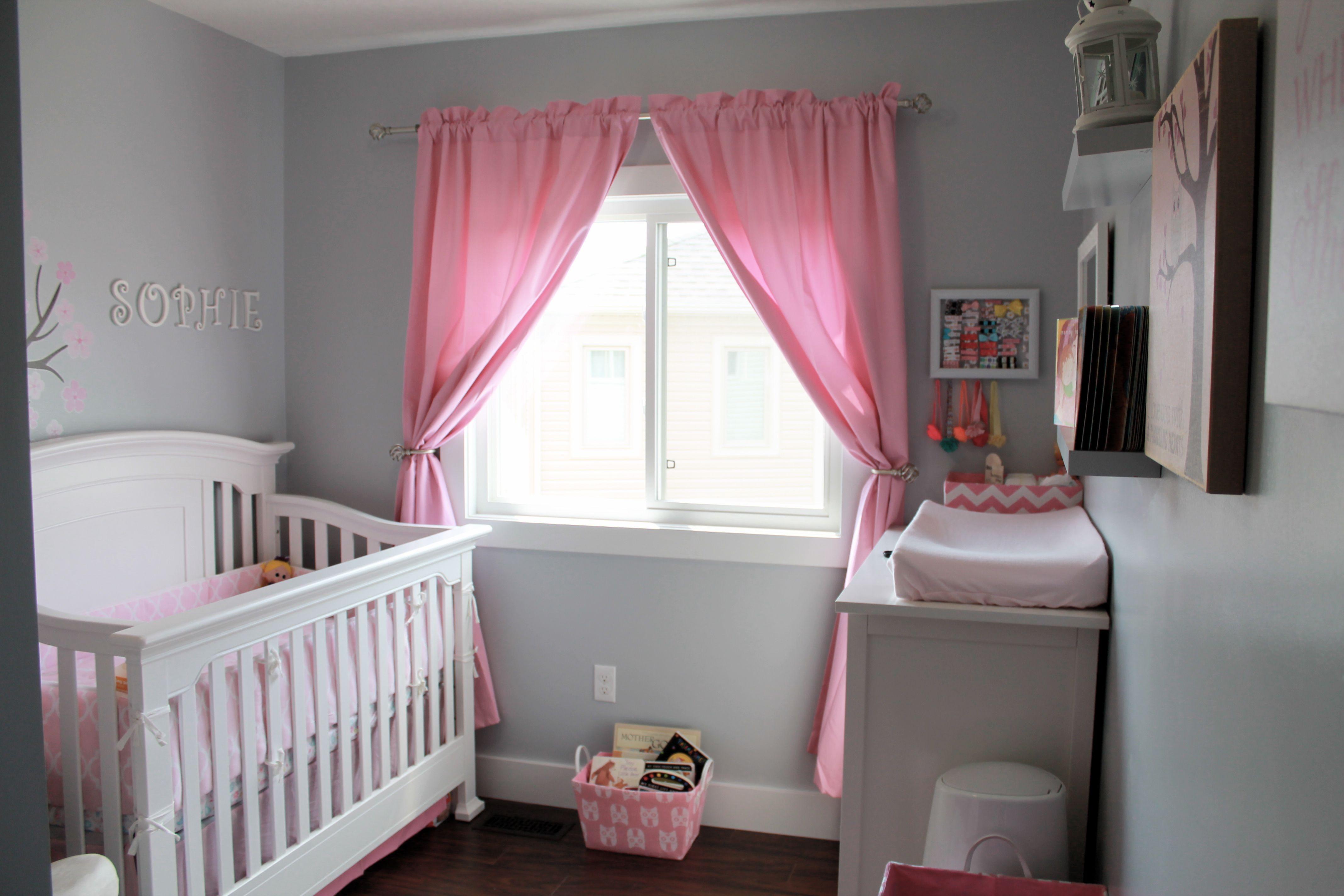 A Pink Grey And White Nursery Babynursery