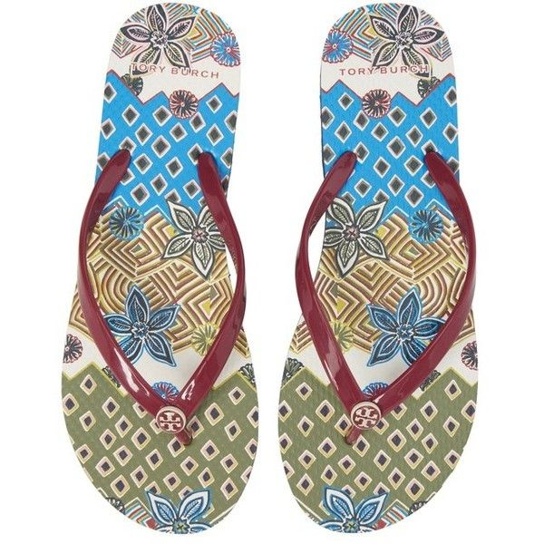 2f8911640 Women s Tory Burch Thin Flip Flop ( 48) ❤ liked on Polyvore featuring  shoes