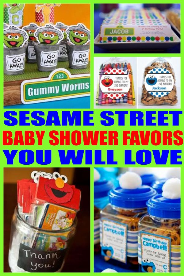 Sesame Street Baby Shower Favors Best Baby Shower Party Favor