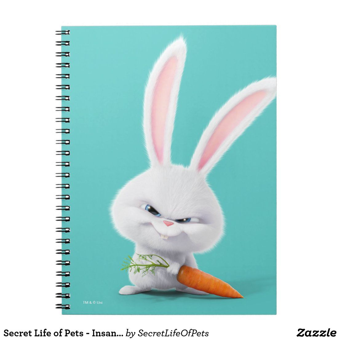 Secret Life Of Pets Insanely Cute Snowball Notebook Zazzle Com In 2020 Secret Life Of Pets Secret Life Pets Movie