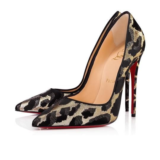 f6f855b94a Christian Louboutin Black So Kate 120 Gold Silver Lurex Feline Stiletto  Classic Heel Pumps Size EU 37 (Approx. US 7) Regular (M, B).