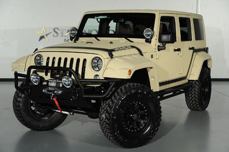 Desert tan custom 2014 jeep wrangler unlimited front left view 2014 jeep wrangler unlimited pkg we finance in dallas texas sciox Images