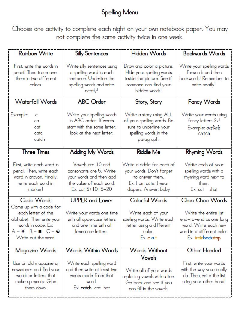 Creative Ways To Write Words word work activities. creative ways to practice sight words