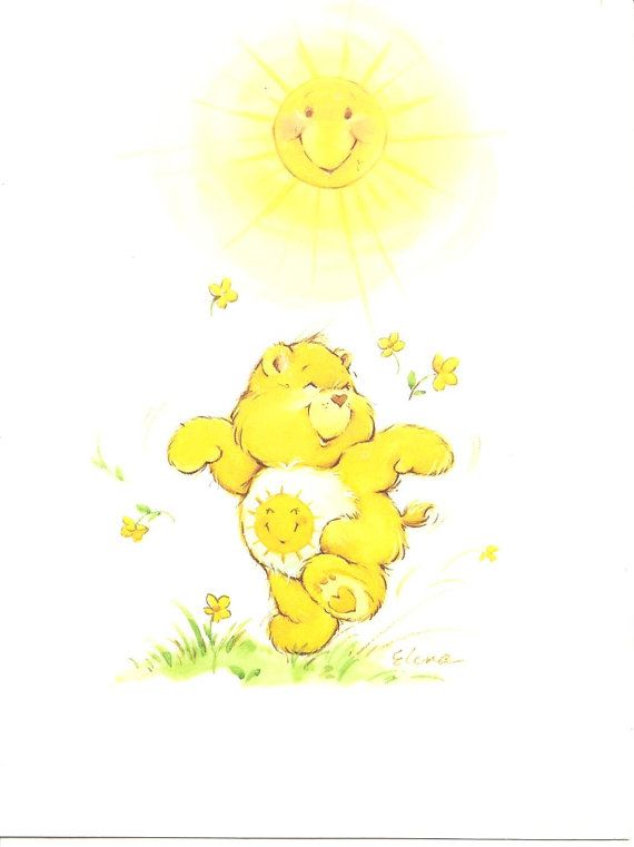 American greetings care bears sunshine bear card care bears american greetings care bears sunshine bear by dustofftheshelf 300 m4hsunfo