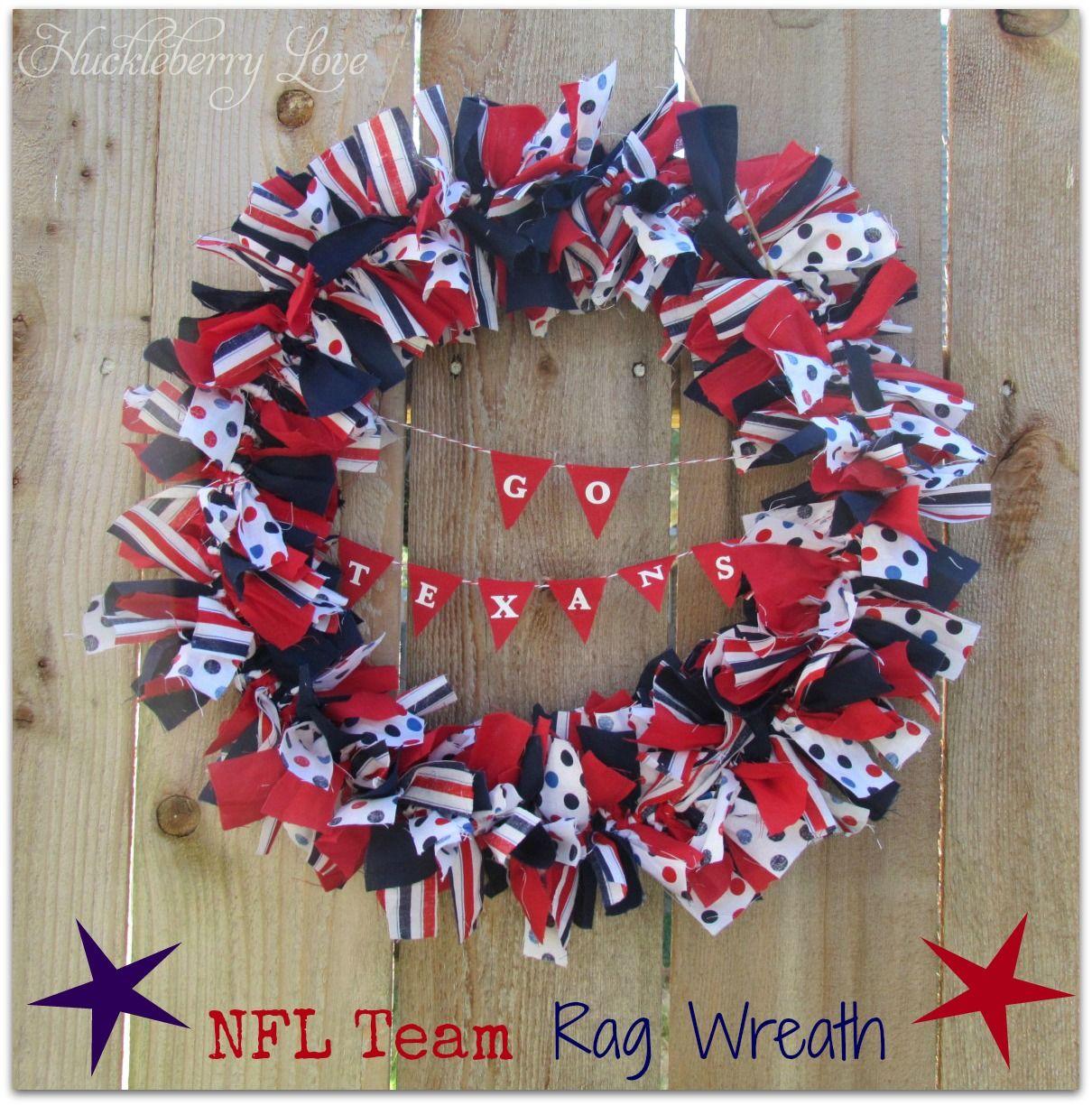 Nfl Team Rag Wreath Tutorial Rag Wreath Tutorial Rag Wreath