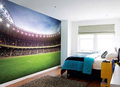 BOYS FOOTBALL STADIUM WALL MURAL KIDS FOOTBALL PITCH GROUND 3.15m X 2.32m Part 21