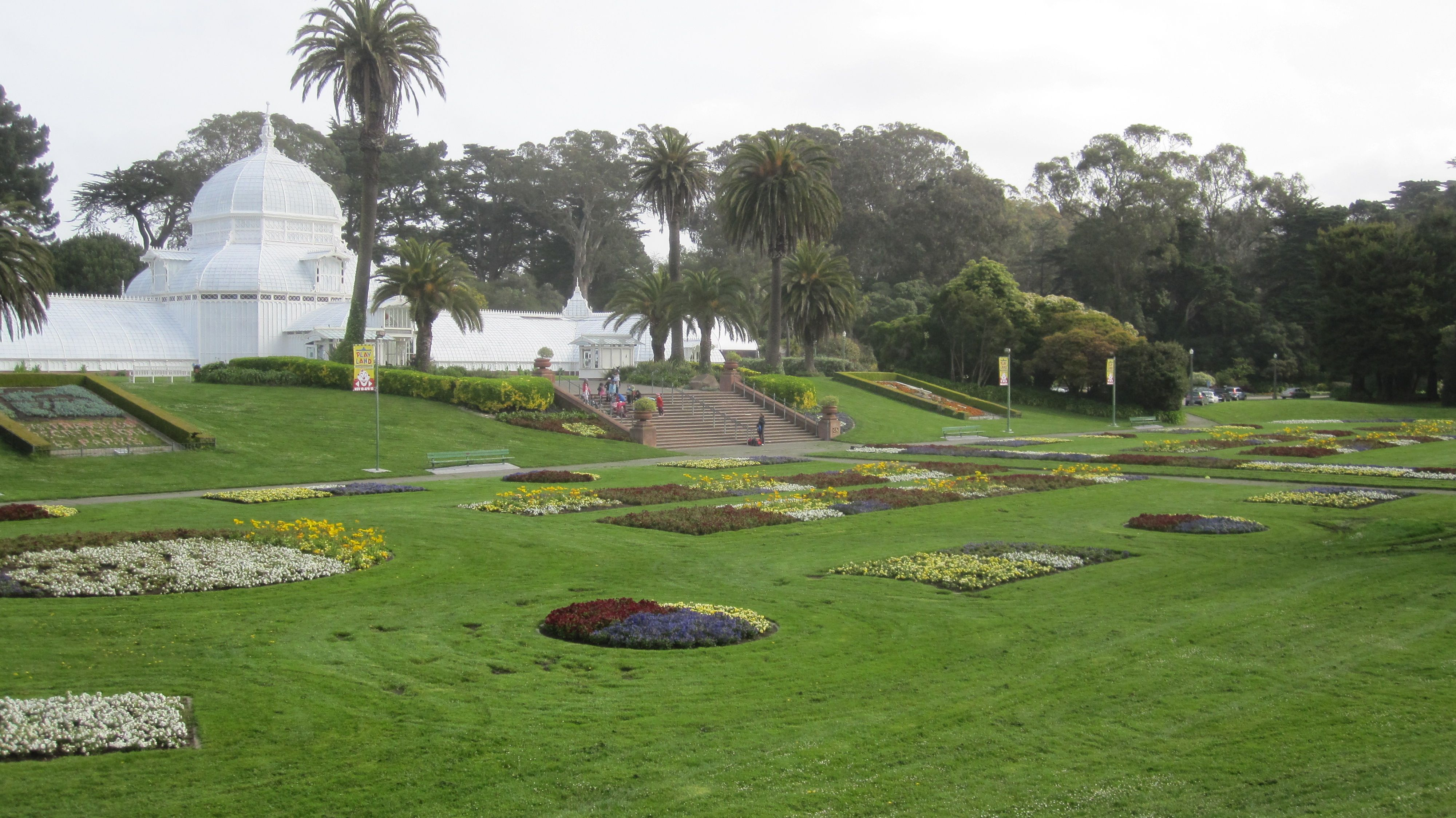 Golden Gate Park in San Francisco, a view of the botanical