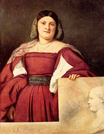 A Lady (La Schiavona), ca. 1510-1512 by Titian, ca. 1488-1576 National Gallery, London NG5385
