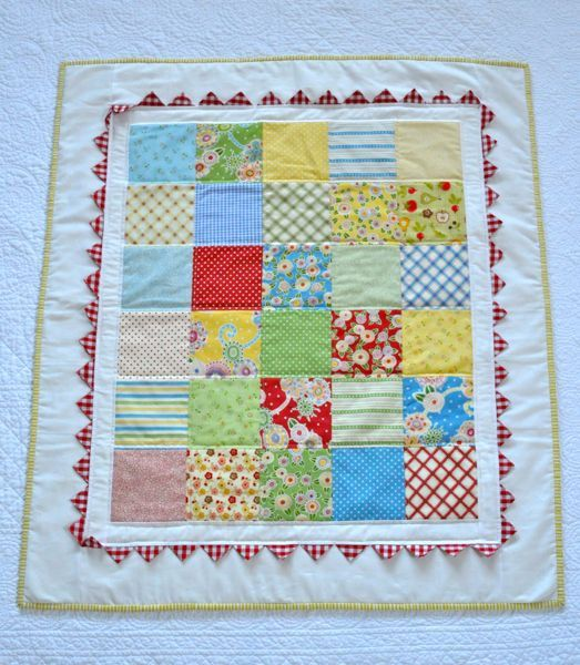 Patchwork Baby Quilt by AquaReefStudios on Etsy