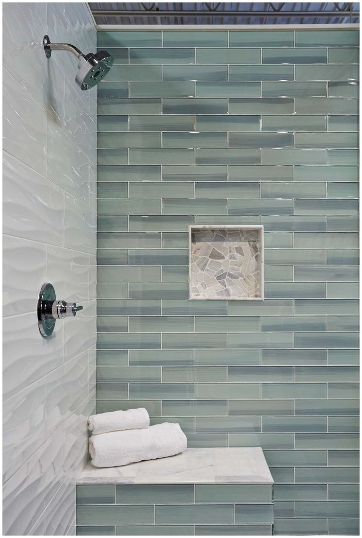 Looks A Bit Dirty But Cool Idea: Sublime Subway Glass Tile Kitchen Bathroom  Design Bodesi