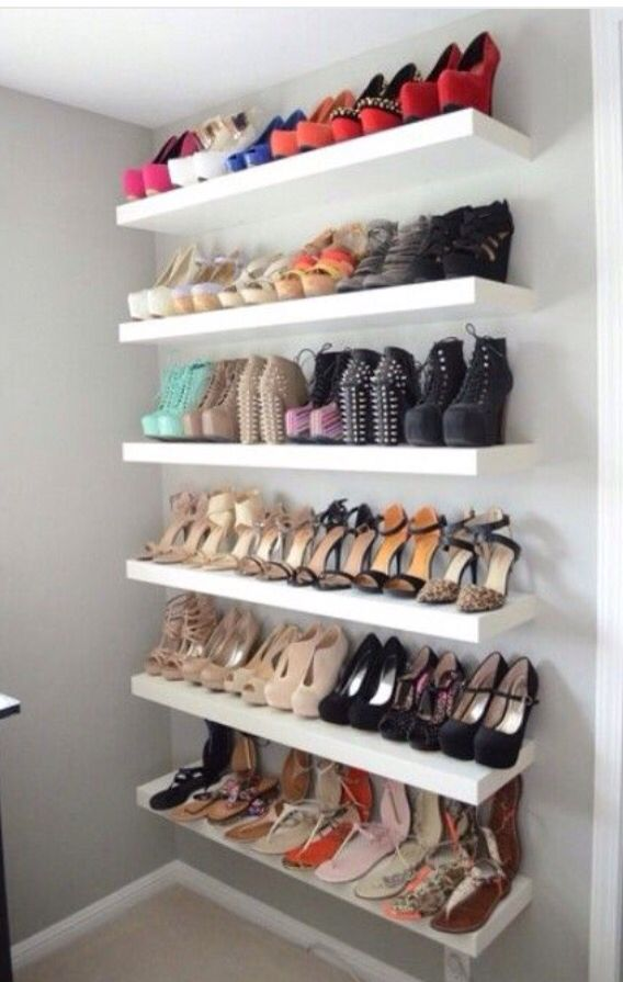 I love Floating shelves. And shoes. Just saying.