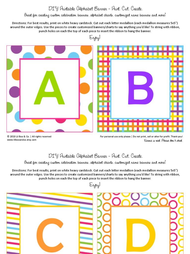 Use This Printable To Create Custom Banners For Any Occasion