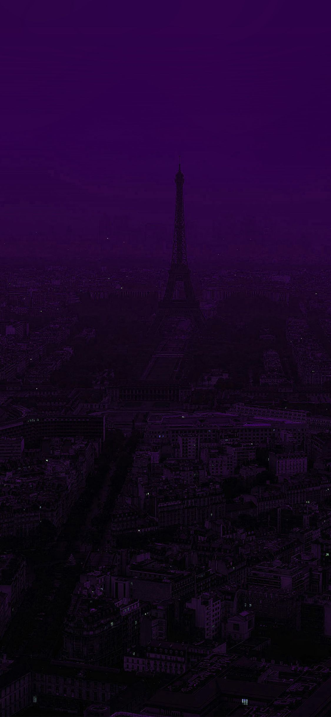 Iphonexpapers Com Apple Iphone Wallpaper Bb43 Paris Dark Purple City Illustration Art Dark Purple Wallpaper Dark Purple Aesthetic Purple City