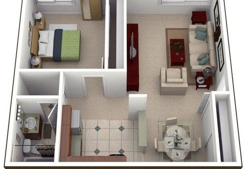 Image Result For 400 Sq Ft Apartment Floor Plan Small Apartment