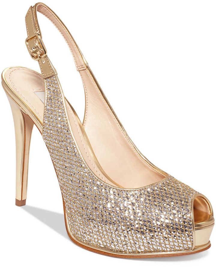 c06ae0b9de31 A sparkly pair of Jimmy Choo esque platform wedding shoes by Guess ...