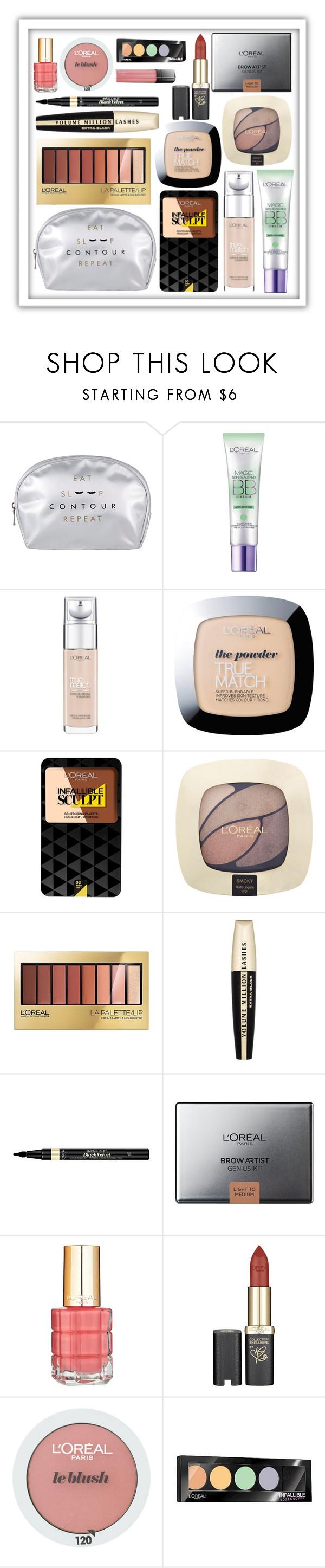 """L'oreal Paris beauty bag"" by dubaileila ❤ liked on Polyvore featuring beauty and L'Oréal Paris"