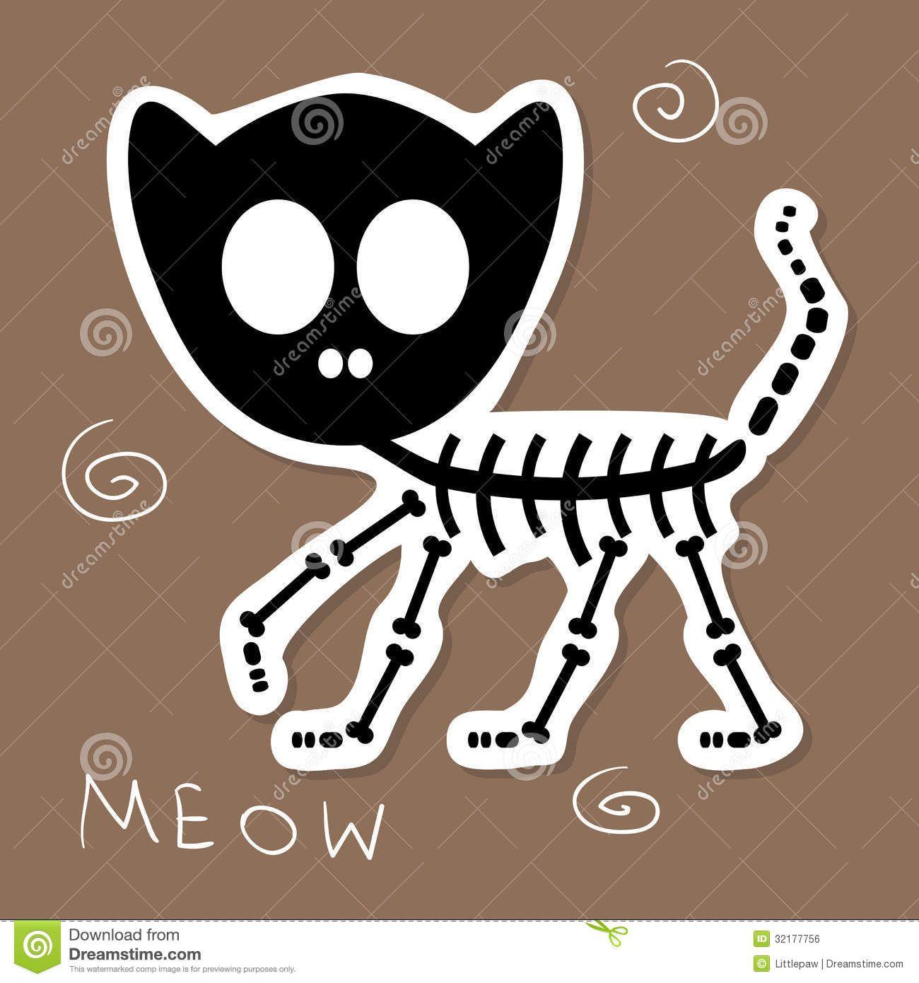 dibujos gatos esqueleto  Buscar con Google  dead shit