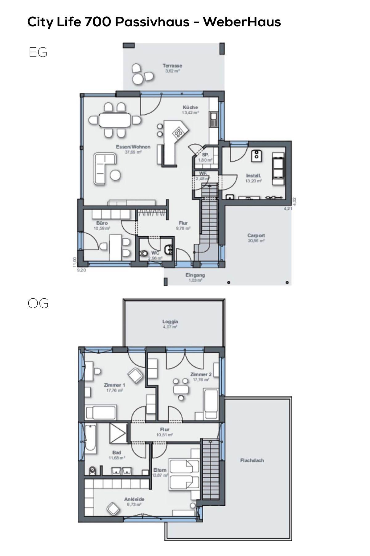 grundriss einfamilienhaus 5 zimmer 180 qm wohnfl che offene k che arbeitszimmer oder 3. Black Bedroom Furniture Sets. Home Design Ideas