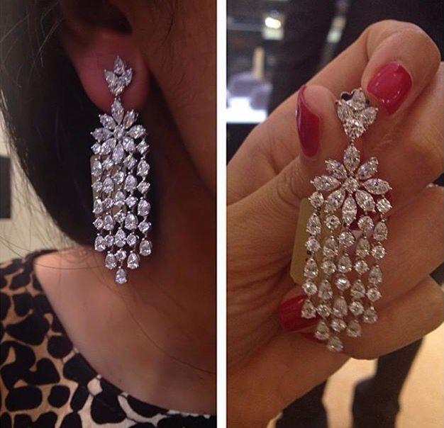 Western Beauty Diamond Chandelier Earrings Diamond Earrings Studs Bridal Jewelry