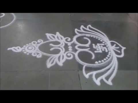 Kalash Rangoli Small Design Sanskar Bharati Rangoli Diwali special