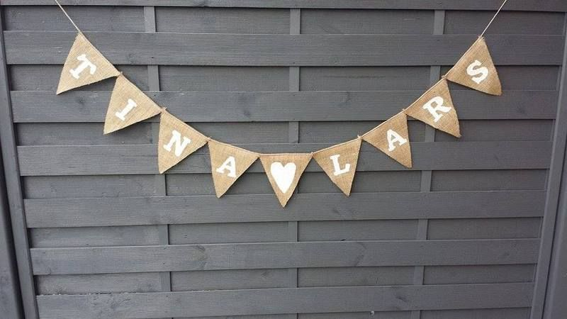 Girlande Mit Namen Wimpelkette Vintage Hochzeit Von Feierliches Auf