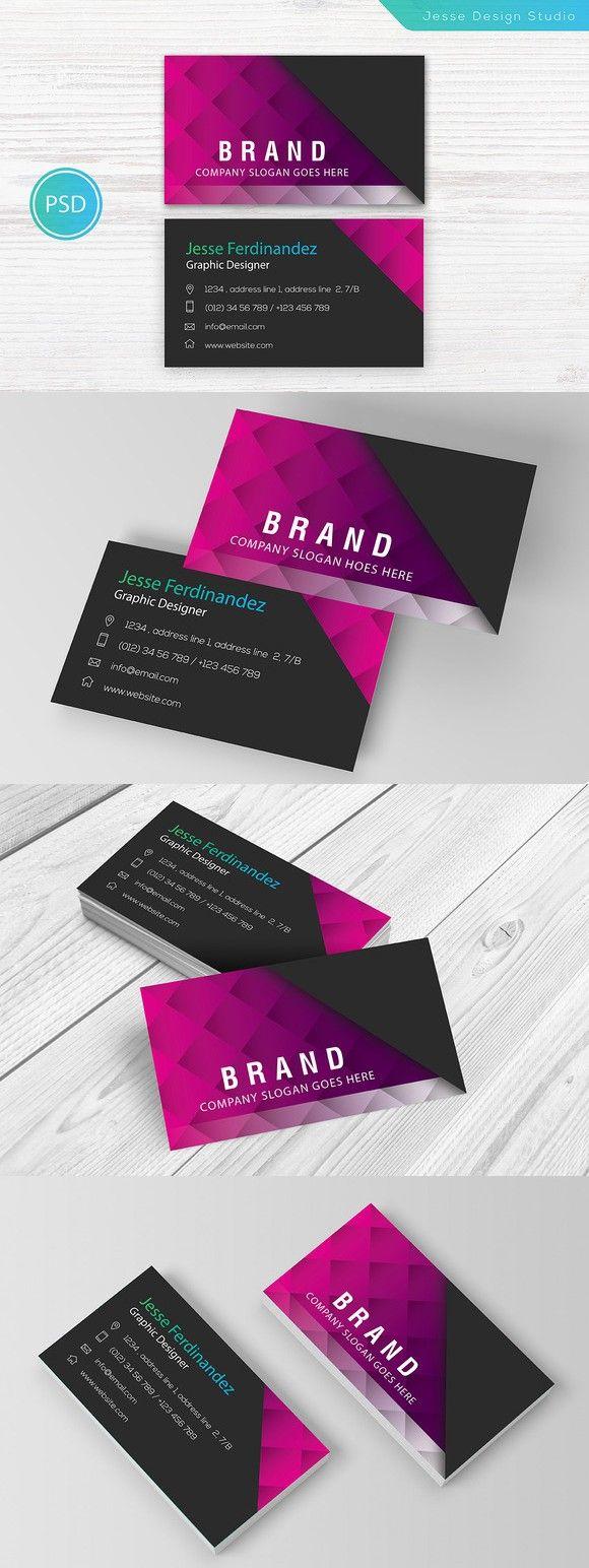 Modern Business Card Template Vol 02 Modern Business Cards Business Card Template Business Cards Creative