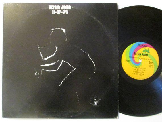 Vinyl Record Elton John 11 17 70 Vinyl Record Lp Album Vinyl Records Lp Albums Records