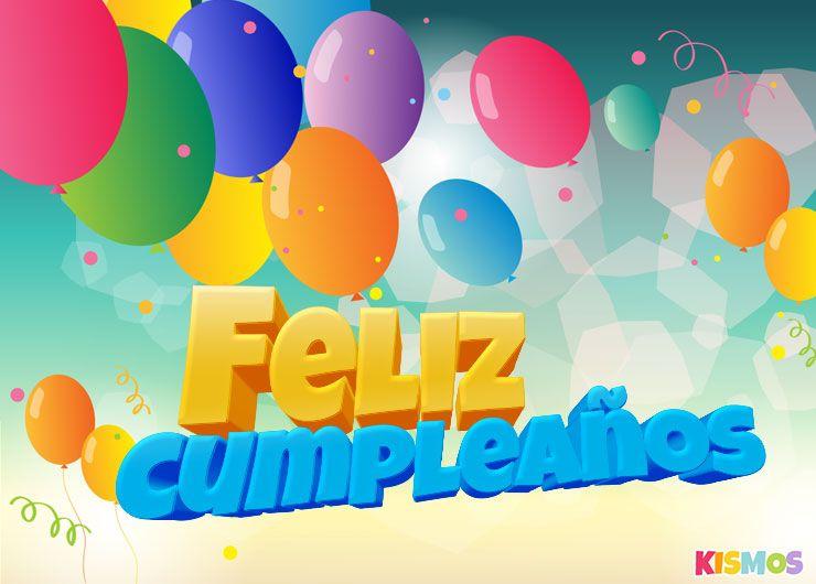 Tarjeta De Feliz Cumpleaños Globos Multicolores Para