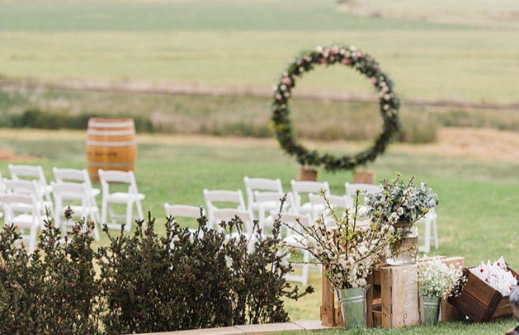 Kayla And Mitch S Wedding Wedding Arch Wedding Ceremony Wedding