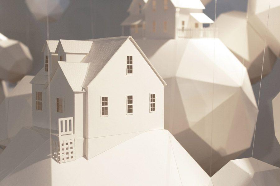 "Artist Nicki Crock\'s ""Dream House"" | Paper installation and Artist"