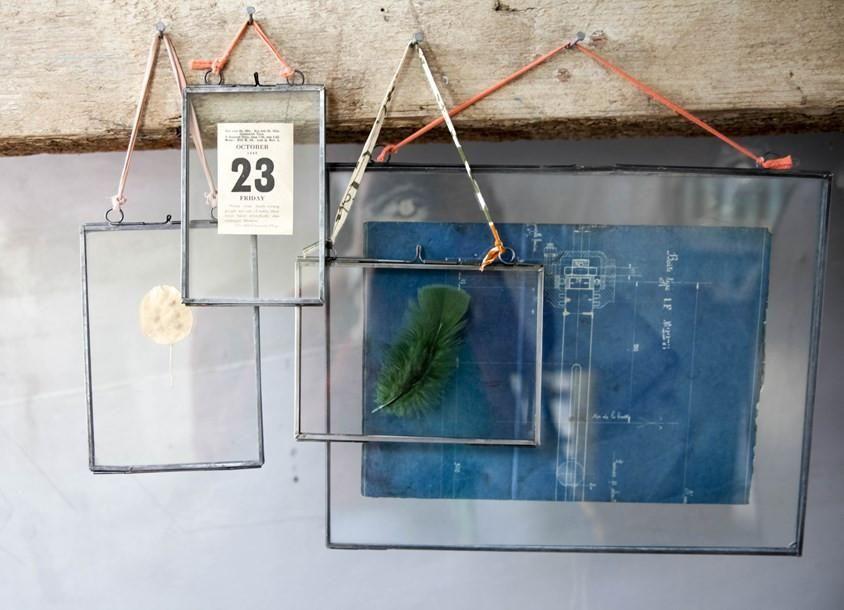"Nkuku Brass Picture Photo Frame 8 x 10/"" Portrait Kiko Clear Glass Double Sided"