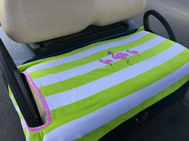 Pink Flamingo Terry Cloth Seat Cover