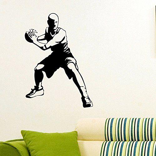 Wall Decal Vinyl Sticker Gym Sport Basketball Player Decor Sb190 #basketball  #player #sport