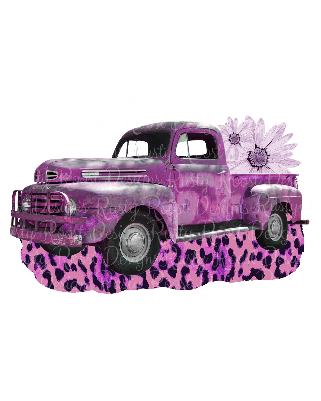 Retro Truck Pngtruck Sublimation Designs Downloadsdigital Etsy Vintage Truck Truck Graphics Pink Truck