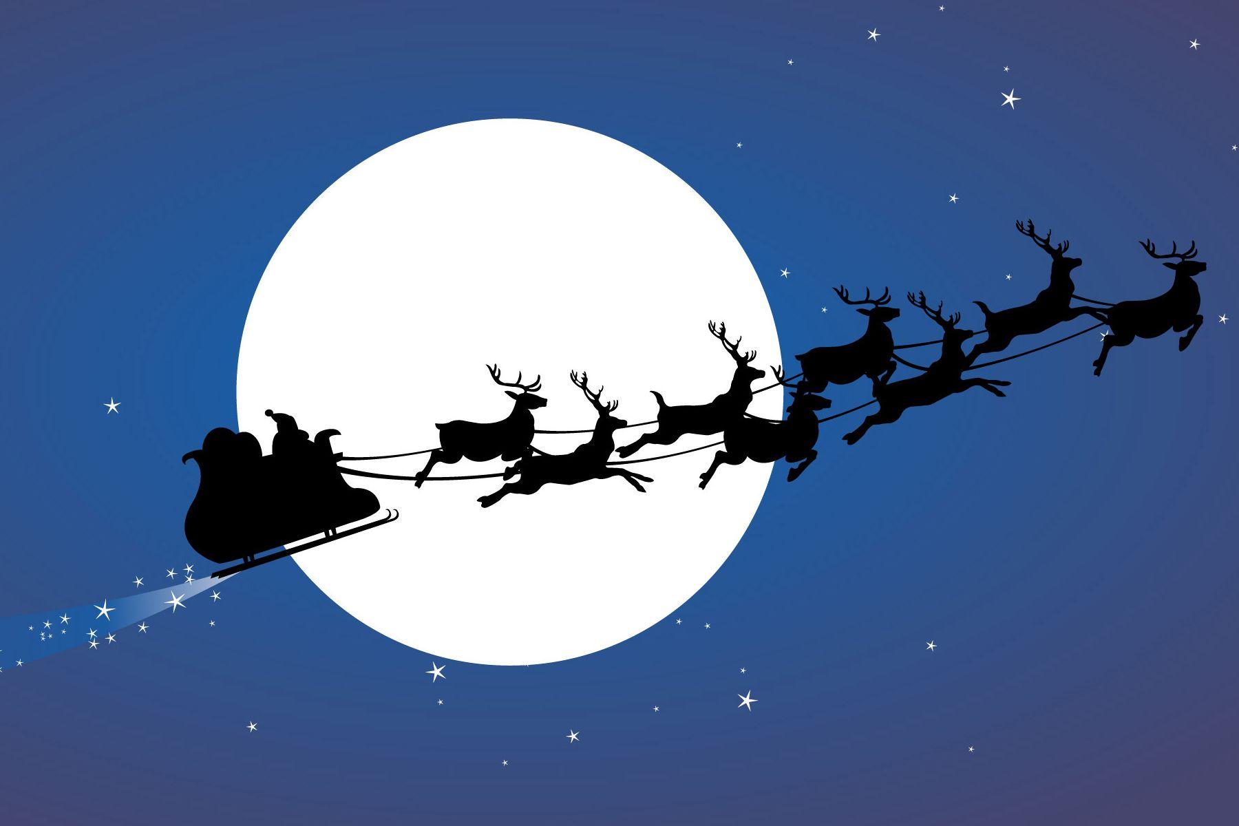 Google themes christmas - Santa Sleigh Silhouette Google Search