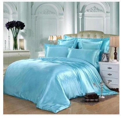 Twin Fitted Bed Sheets Quilt Duvet, Super King Bedding Set Blue