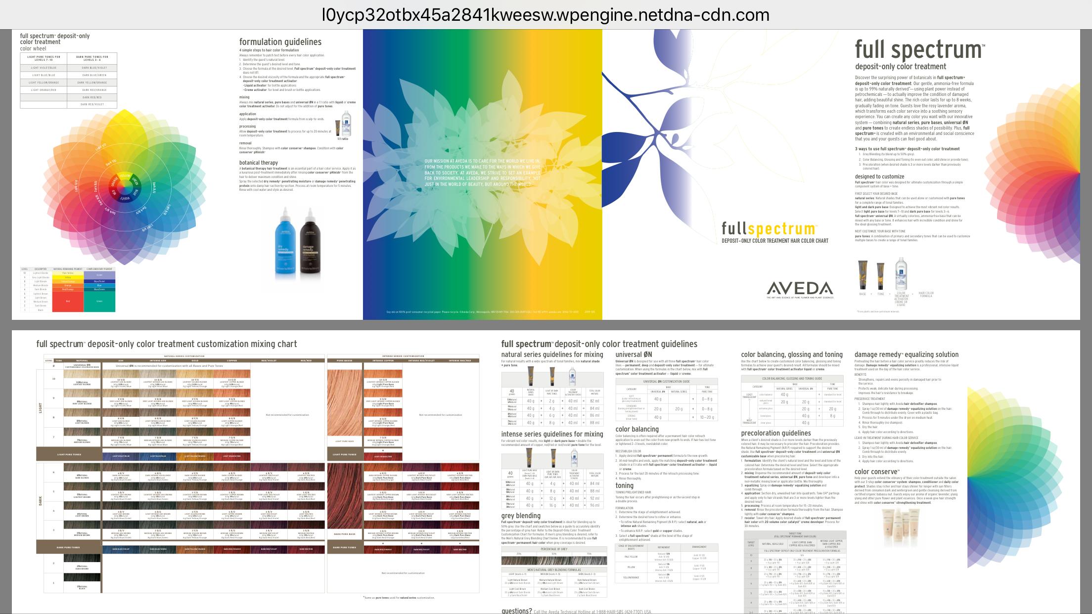 Aveda hair color chart | Aveda hair color, Aveda color ...