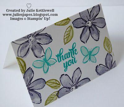 Julie Kettlewell - Stampin Up UK Independent Demonstrator - Order products 24/7: Garden in Bloom