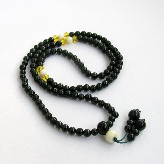Ovalbuy 10mm 108 Howlite Beads Buddhist Prayer Rosary Mala Necklace y3csrDUEsJ