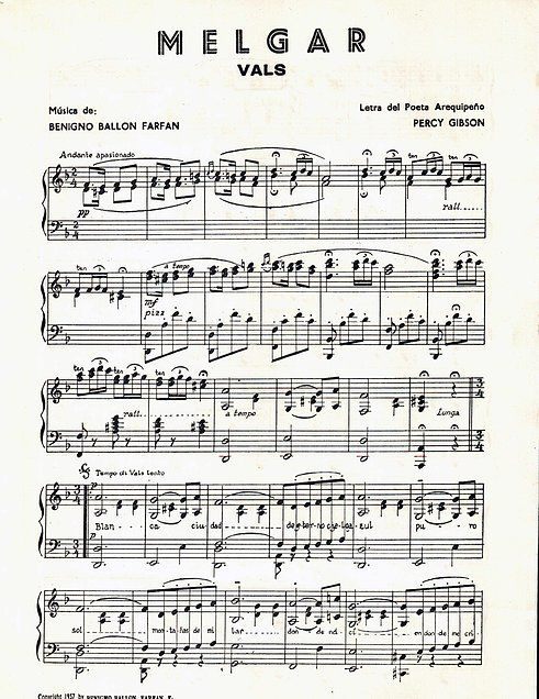 Resultado De Imagen Para Vals Melgar Piano Partitura Pdf Sheet Music